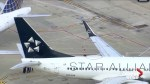 Two airplanes have wingtip damage after colliding on the ground at Chicago's O'Hare
